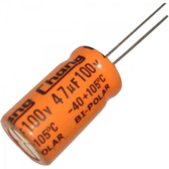 Capacitor Eletrolítico Bipolar 47uF x 100V CAPC0002 Laranja STORM