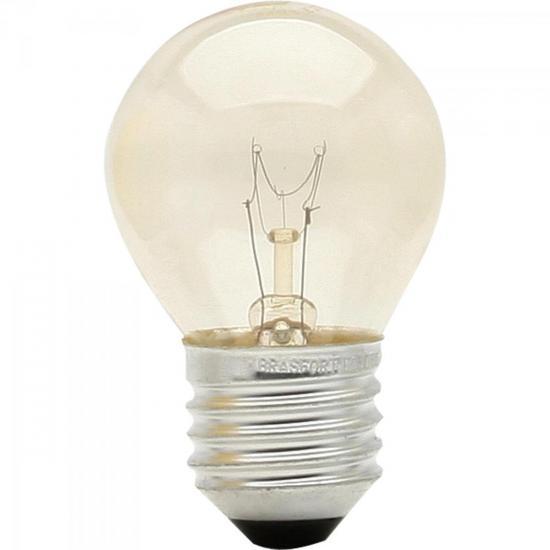 Lâmpada BOLINHA 15W 127V E27 BG45 Transparente BRASFORT