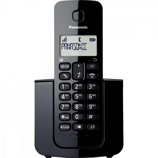 Telefone sem Fio com ID KX-TGB110LBB Preto PANASONIC