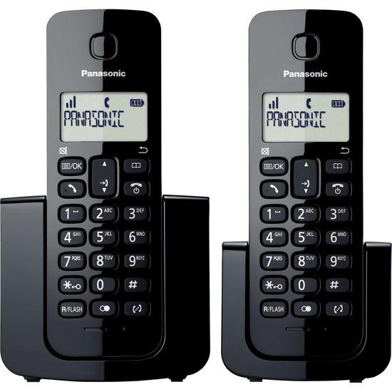 Telefone sem Fio com ID Base + Ramal KX-TGB112LBB Preto PANASONIC (58782)
