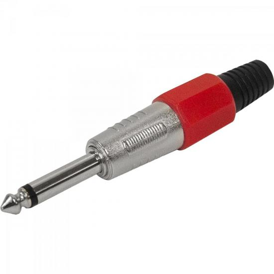 Plug P10 Mono Plástico PGPZ0020 Vermelho STORM