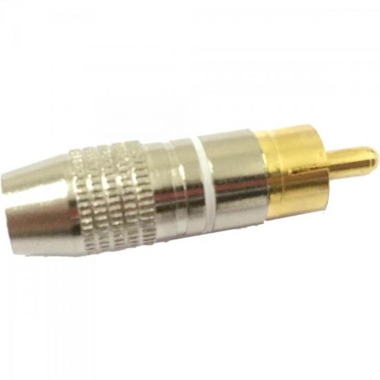 Plug RCA Profissional PGRC0015 Branco STORM