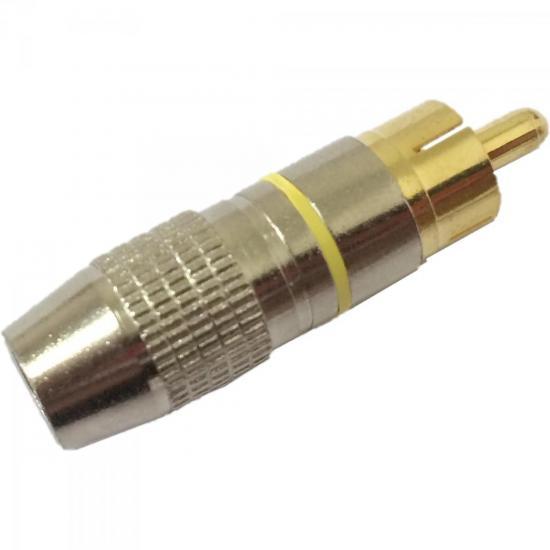Plug RCA Profissional PGRC0014 Amarelo STORM