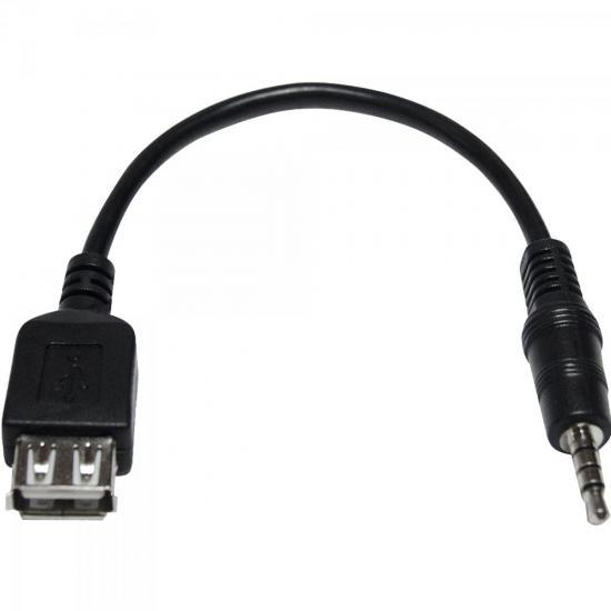 Cabo P2 4C x USB Fêmea CBPD0005 Preto STORM