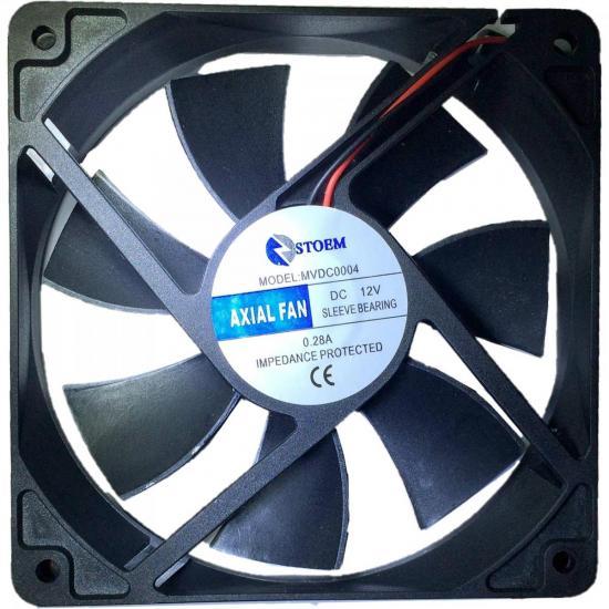Microventilador 120X120X25mm 12V MVDC0004 Preto STORM