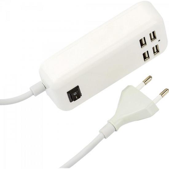 Carregador USB 4 Portas 4000mA XC-USB-4 Branco X-CELL (59093)