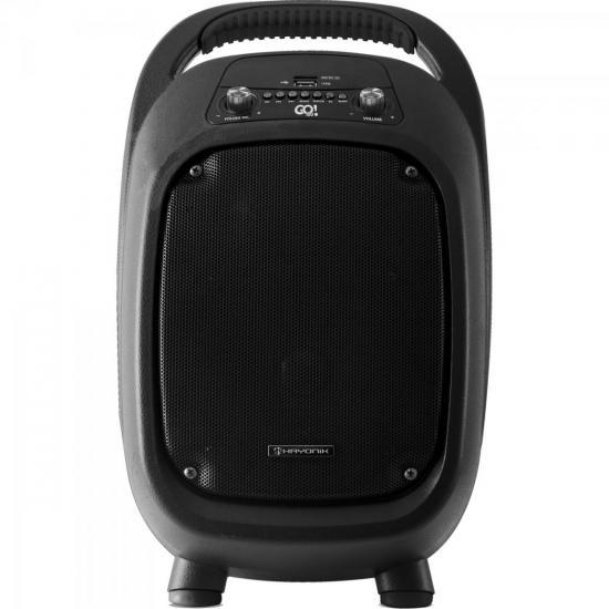 Caixa Multiuso Portátil 100W Bluetooth/MicroSD/USB/FM GO!100 c/ Bateria PT HAYONIK