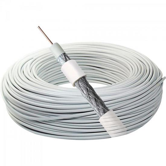Coaxial RG 59 67% Branco Bobina 300m MEGATRON