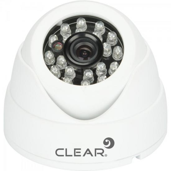 Câmera AHD Mini Dome IR 25m 2,8mm 720P AHD-24L Branca CLEAR