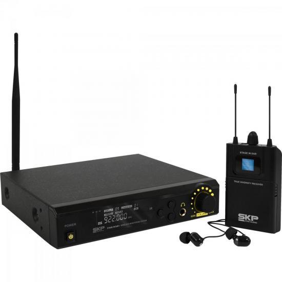 Sistema de Monitoramento sem Fio STAGE IN EAR Preto SKP