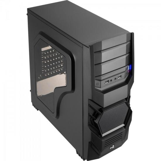 Gabinete Gamer Mid Tower CYCLOPS BLACK EDITION EN52933 Preto AEROCOOL