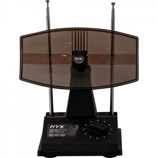 Antena Digital HDTV/UHF/VHF/FM Interna UVFI-102 Preta HYX