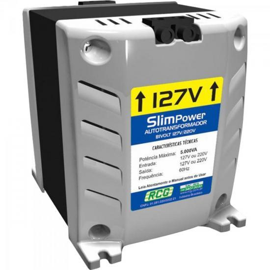 Autotransformador 127/220VAC 5000VA SLIM POWER Prata RCG