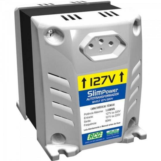 Autotransformador 127/220VAC 1500VA SLIM POWER Prata RCG