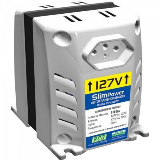 Autotransformador 127/220VAC 1050VA SLIM POWER Prata RCG