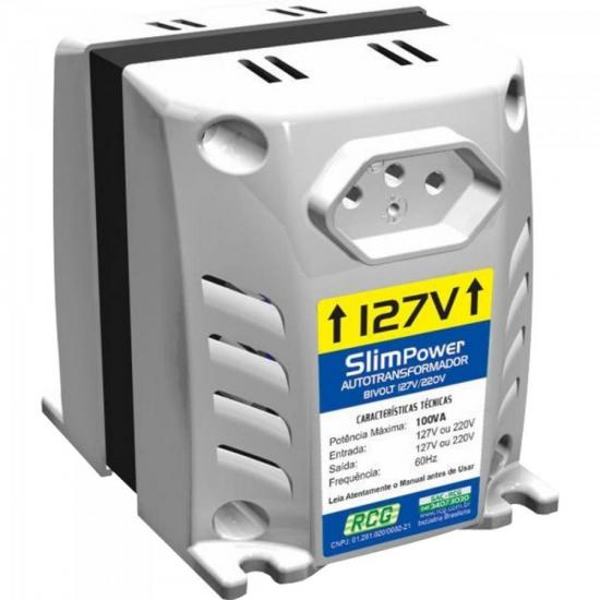 Autotransformador 127/220VAC 100VA SLIM POWER Branco RCG