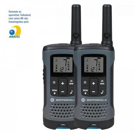Rádio Comunicador Talkabout 32km T200BR Cinza MOTOROLA (60482)
