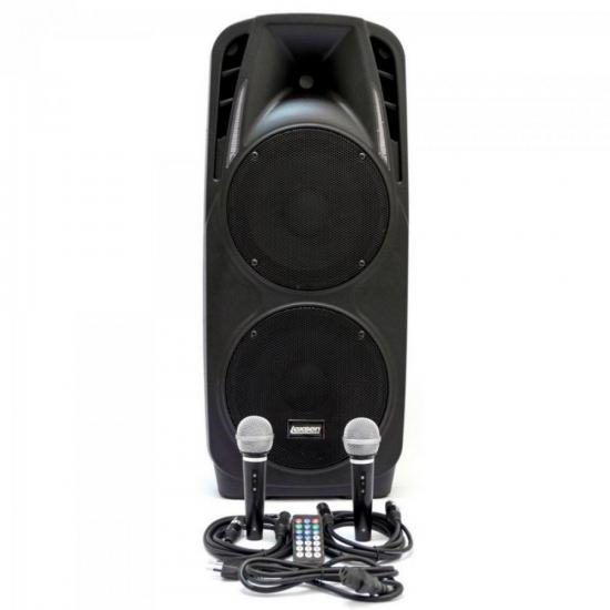 Caixa Acústica 300W RMS 8 Ohms MP3/FM/USB/SD/BLUETOOTH Bivolt LS-210A Preta LEXSEN