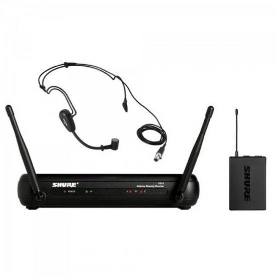Sistema Microfone Headset sem Fio BLX14BR/PGA31 Preto SHURE