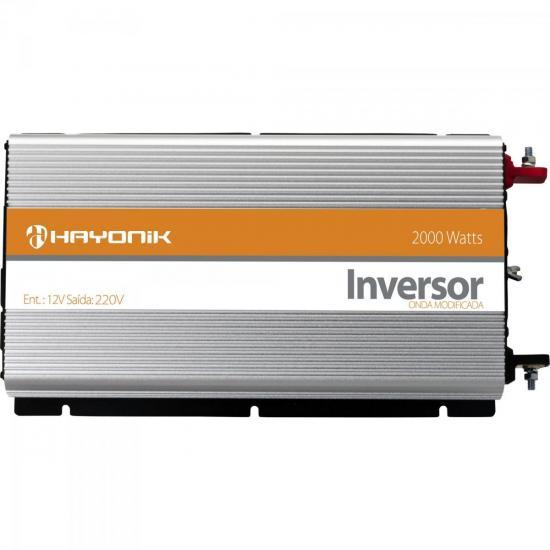 Inversor de Onda Modificada 12VDC/220V USB 2000W HAYONIK