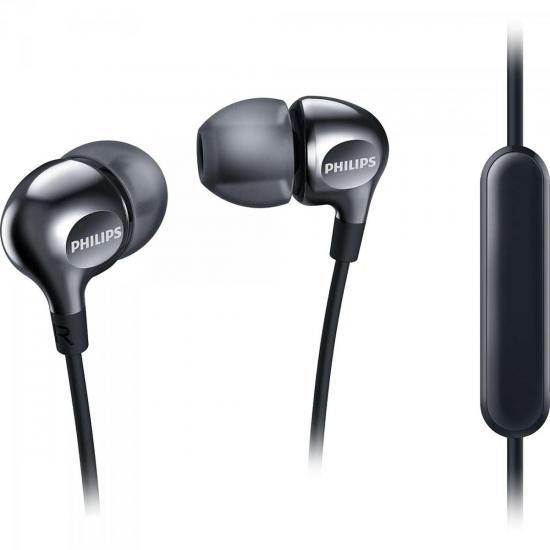 Fone de Ouvido Intra-Auricular com Microfone SHE3705BK/00 Preto PHILIPS