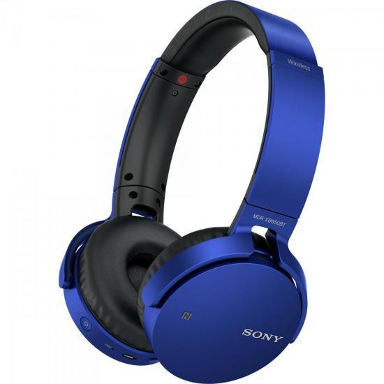 Fone de Ouvido Wireless Bluetooth com Microfone MDR-XB650BT Azul