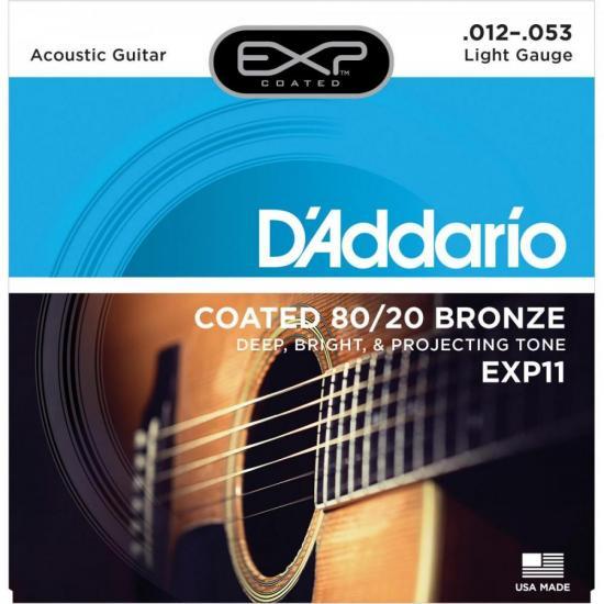 Corda de Aço Para Violão EXP11 012 Azul D'ADDARIO