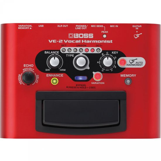 Pedal de Efeitos VOCAL HARMONIST VE-2 Vermelho BOSS