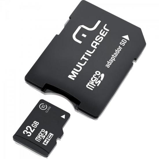 Cartão de Memória 32GB Micro SDHC com Adaptador MC111 CLASSE 10 MULTILASER