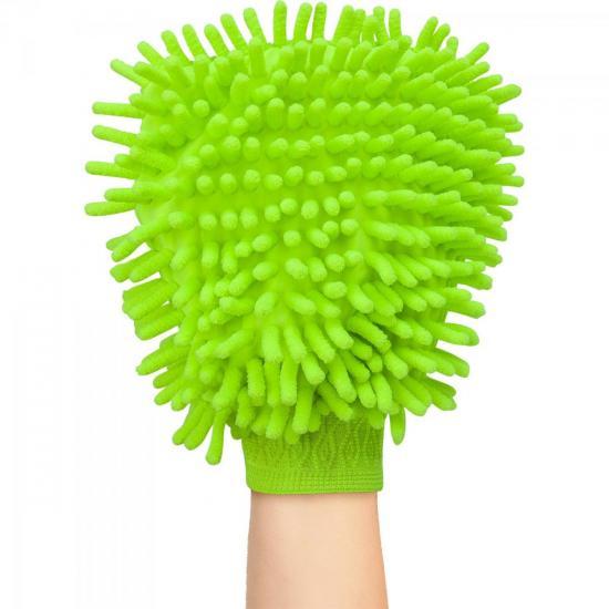 Luva de Microfibra Para Limpeza AU309 Verde MULTILASER