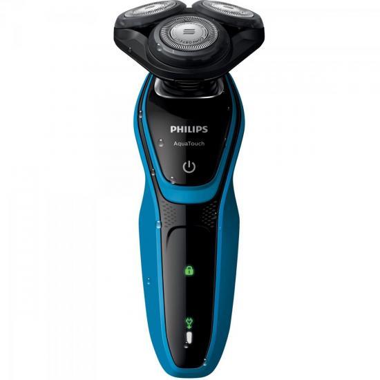 Barbeador sem Fio S5050/04 Bivolt Preto/Azul PHILIPS