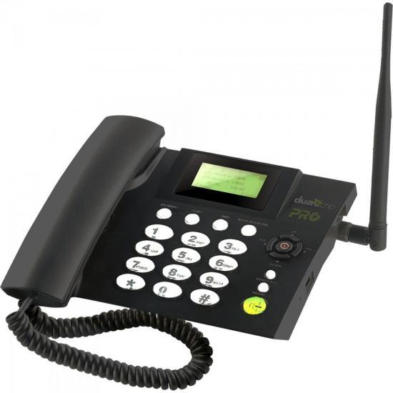 Telefone Celular Fixo Quad Band Dual Chip PROCD6010 PROELETRONIC