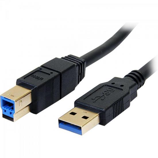 Cabo de Dados USB 3.0 A Macho x USB 3.0 B Macho 1,8m CBUS0013 Preto STORM