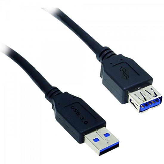 Cabo de Dados USB 3.0 A Macho x USB 3.0 A Fêmea 1,8m CBUS0012 Preto STORM