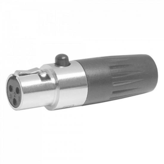 Conector Mini Cannon XLR Fêmea 103F Preto CSR