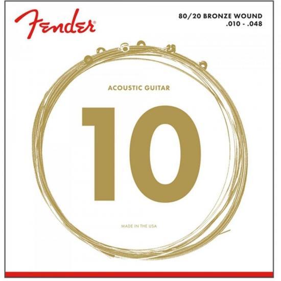 Encordoamento para Violão Aço 0.010 70XL Bronze FENDER
