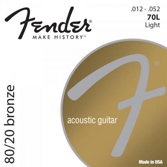 Encordoamento para Violão Aço 0.012 70L Bronze FENDER