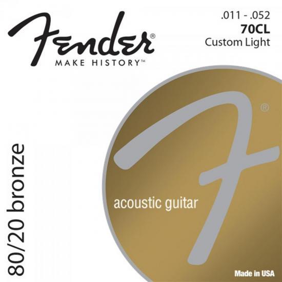 Encordoamento Para Violão Aço 0.011 70CL Bronze FENDER
