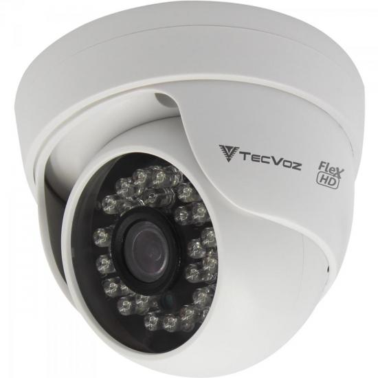 Câmera Dome IR 25m 2,8mm 1.0MP QDM-128P Branca TECVOZ