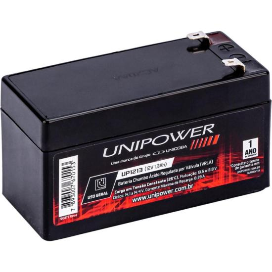Bateria Selada 12V/1,3A UP1213 UNIPOWER (61408)