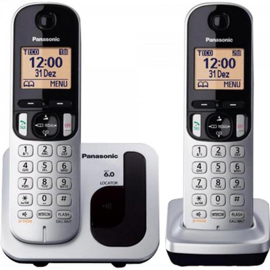 Telefone sem Fio com ID Base + Ramal KX-TGC212LB1 Cinza PANASONIC