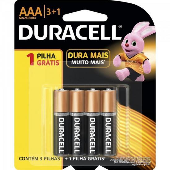 Pilha Alcalina AAA Leve 4 Pague 3 MN2400B4 Blister DURACELL
