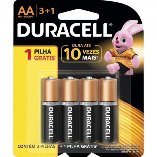 Pilha Alcalina AA Leve 4 Pague 3 MN1500B4 Blister DURACELL