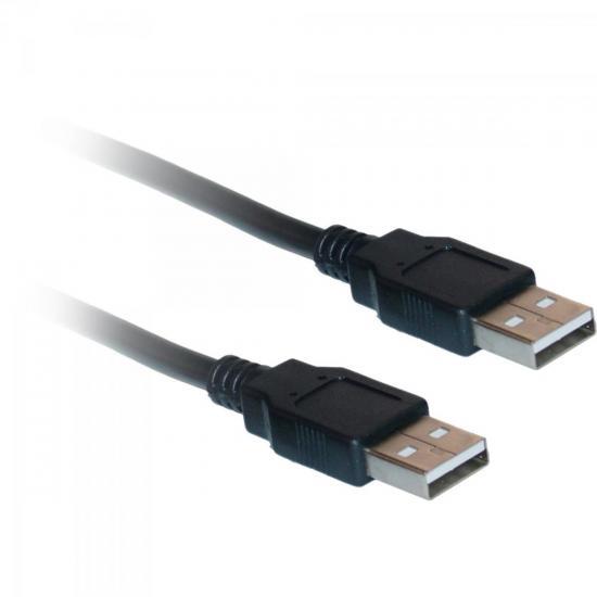 Cabo de Dados USB 2.0 A Macho x USB 2.0 A Macho 5m CBUS0015 Preto STORM