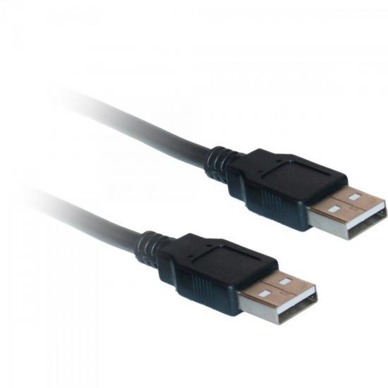 Cabo de Dados USB 2.0 A Macho x USB 2.0 A Macho 3m CBUS0014 Preto STORM