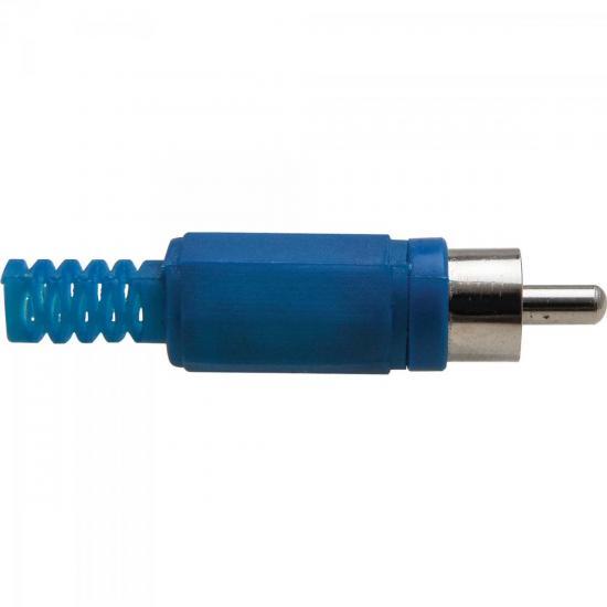 Plug RCA com Proteção PGRC0008 Azul STORM