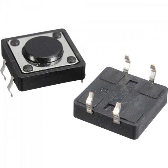 Chave Tactil Switch 4,3mm 180º CHVS0019 Preta STORM