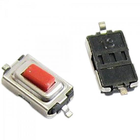 Chave Tactil Switch 3,5x6x25mm 2 Terminais CHVS0017 Vermelha STORM