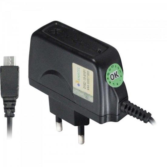 Carregador de Celular Micro USB Bivolt XC-CP-V8 Preto X-CELL