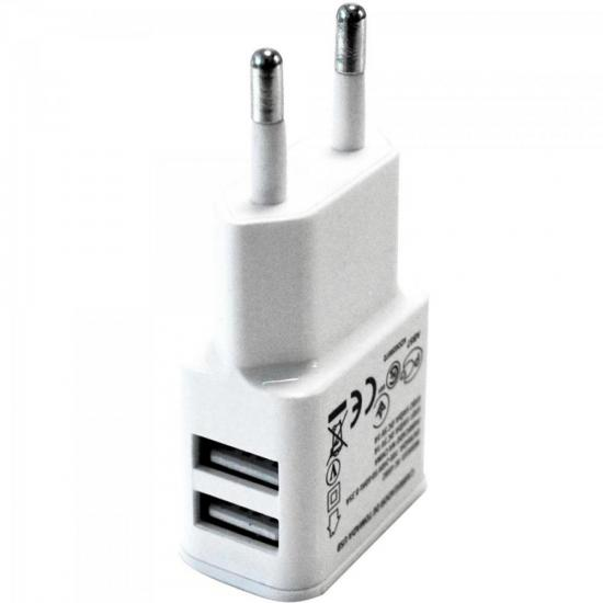 Carregador de Celular com 2 USB Bivolt XC-USB-2 Branco X-CELL